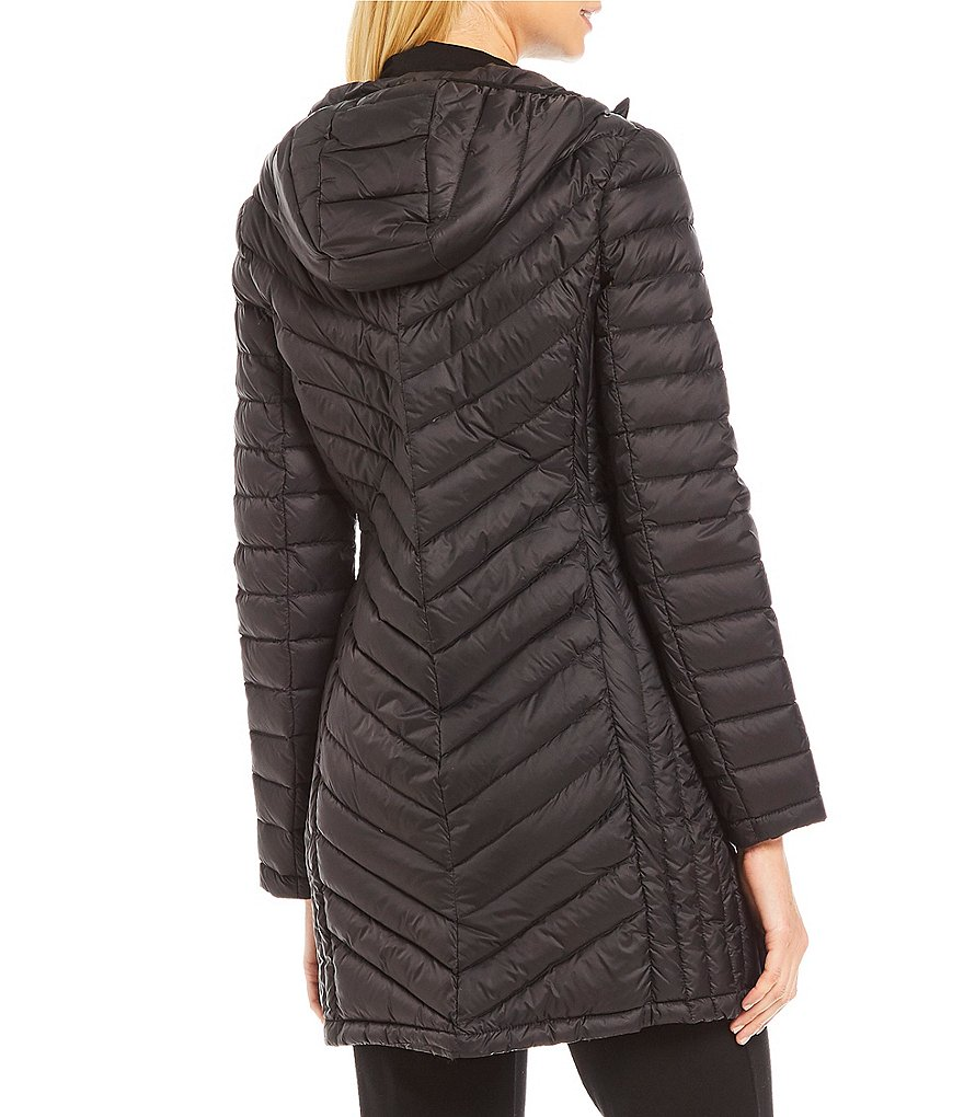 Michael Kors Packable Down Hooded Jacket